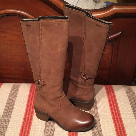 2efca7378 Women s Teva Foxy Tall Waterproof Leather Boots. M 5afa83a6fcdc310b398a4901